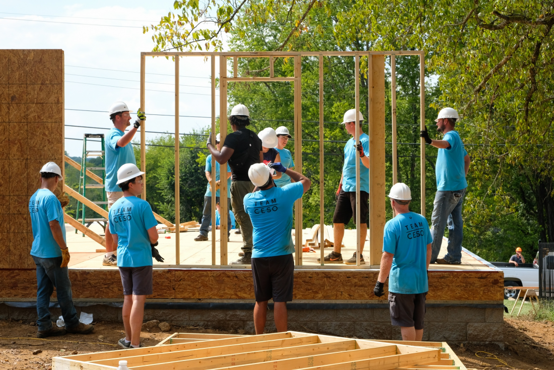 Our Nashville Team's Impact Day Serving Habitat for Humanity
